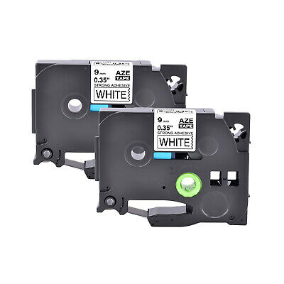 2PK TZS221 TZe-S221 Black on White Tape for Brother P-touch PT-D210 Label Maker
