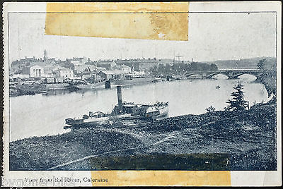 View from the River Coleraine Postcard Northern Ireland Train Station