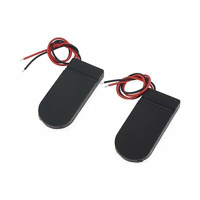 2Pcs 2 x 2032 Coin Cell Battery Holder 6V Output w On/Off Switch TS