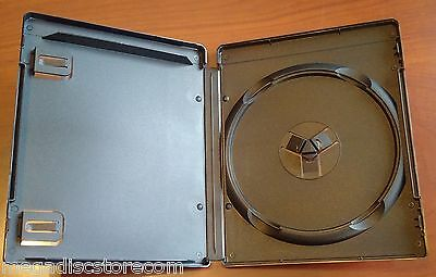 New 3 Pk 14 mm Black Media Storage Box Blu-Ray PS3 Holder PlayStation 3 Case