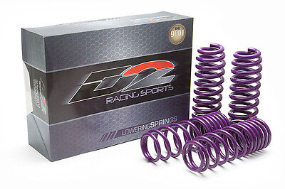 "D2 Racing Lowering Springs 12-13 Honda Civic Si EX LX 2/4 Drop F-2"" R-2"" Coils"