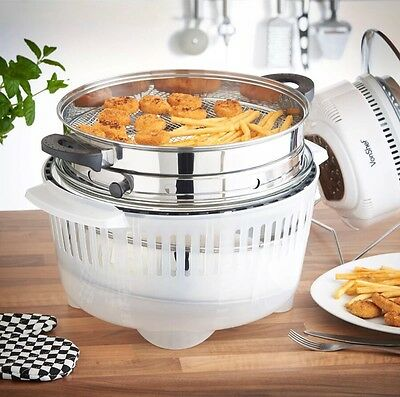 Halogen Oven Air Fry Fryer Frying Ring Basket Attachment Kitchen Gift Home NEW!