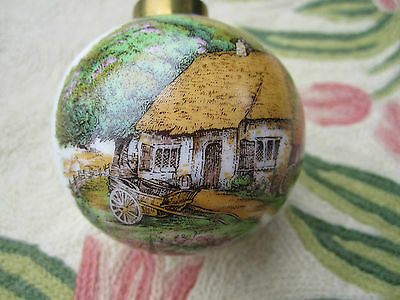 Road to a Friend's House is Never Long Irish Cottage Scene / Shamrocks Ornament
