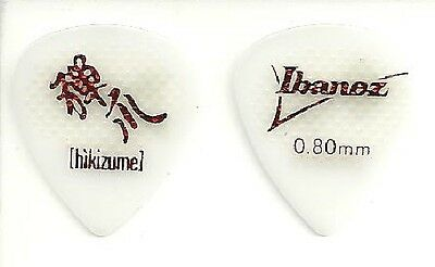 Ibanez Lot de 2 Médiators Hikizume Grip Guitare Plastique Blanc - 0.80 mm