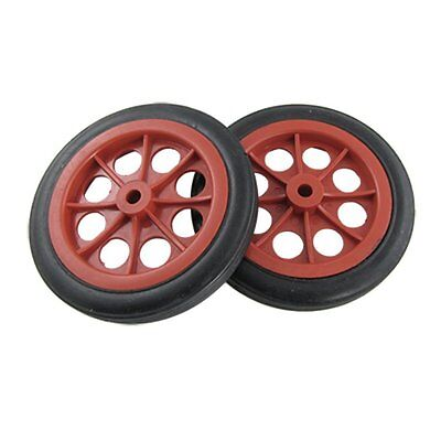 "2 Pcs Replaceable Shopping Basket Cart 4.4"" Wheels Red Black SP"