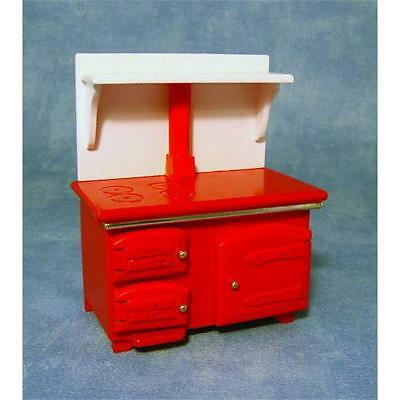 Red Stove For 12th Scale Dolls House DF1181
