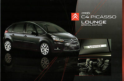 Citroen C4 Picasso Lounge 5-Seater Limited Edition 2007-08 UK Market Brochure