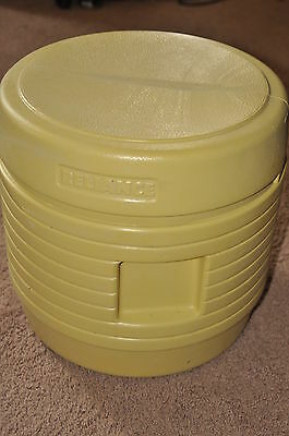 Reliance portable loo toilet,hassoc style sit and pee yellow bucket Camping,EXC!