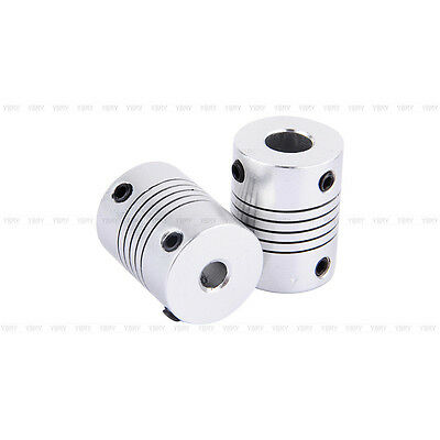 Fine Flexible Clamp Jaw Shaft Coupling CNC Stepper Motor Coupler Router  5x5/8MM