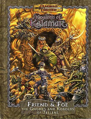 D&D-Kingdoms of Kalamar-Friends & Foe-The Gnomes an Kobolds of Tellene-RPG-rare
