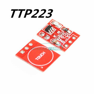 2PCS  TTP223 Capacitive Touch Switch Button Self-Lock Module Arduino  NEW