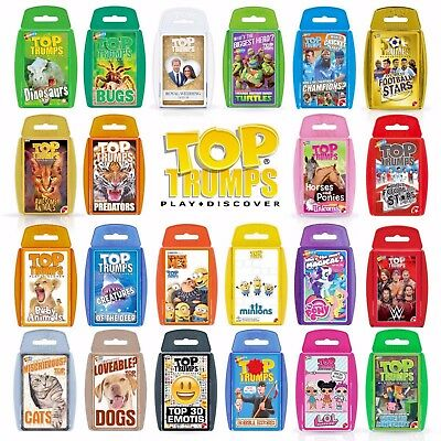 Top Trumps Card Games - Play & Discover - ✔️largest Range Favourite  Packs✔️