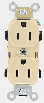 Industrial Grade Grounded Duplex Outlet,No R52-05252-0WS,  Leviton Mfg Co