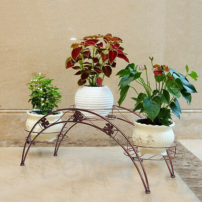 2016 NEW Arched Metal Plant Display Stand Flower Shelf Indoor Outdoor Organizer