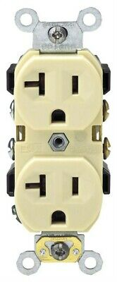 Commercial Grade Grounded Duplex Outlet,No BR20-00I,  Leviton Mfg Co