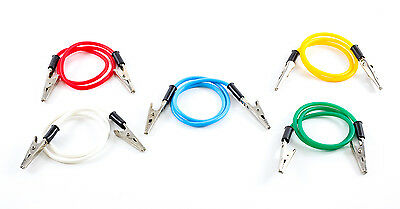 Dental Bib Holder Clip Flexible Rubber Chain - Assorted Color Coded