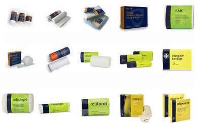 First Aid Cohesive Conforming Crepe Adhesive Triangular Tubular & WOW Bandages