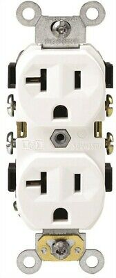 Commercial Grade Grounded Duplex Outlet,No BR20-00W,  Leviton Mfg Co