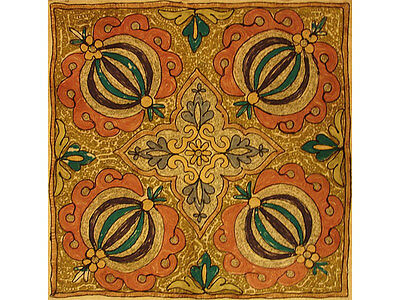 Antique Collectible 18th Century Turkish Embroidery Pillow (made to order)