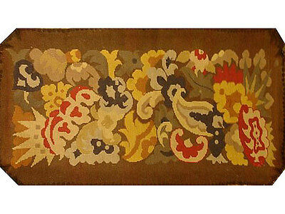 Antique Collectible: 19th Century Needlepoint Tapestry Pillow (made-to-order)