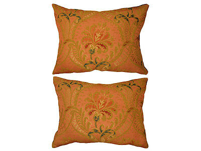 Antique Collectible: 18th Century Brocade Tapestry Pillow (Pair)