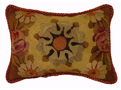 Antique Collectible 18th Century French Tapestry Pillow