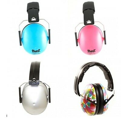 Kids Childs Banz Ear Defenders Earmuffs Protection Silver Baby 2yrs+ Boys Girls