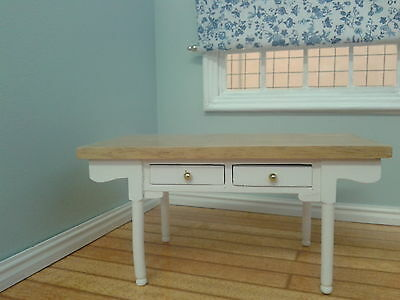 Dolls House Miniatures 1/12th scale White & Pine Kitchen Table DF1507 New*