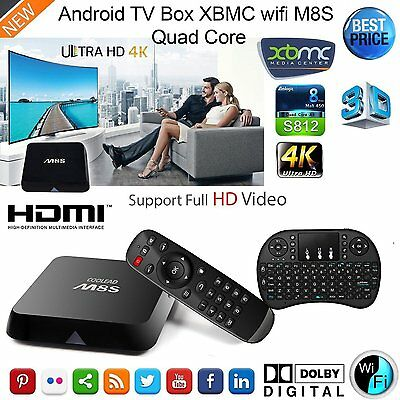 M8S Android TV Box 2 Gb Ram Wifi Kodi Fully Loaded with FREE Keyboard