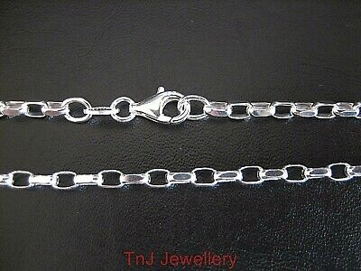 NEW Genuine Solid 925 Sterling Silver Diamond Cut Oval Belcher Ladies Bracelet