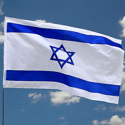 Israel Polyester Flag Jewish Star Magen David Israeli State Sports Banner 3x5FT