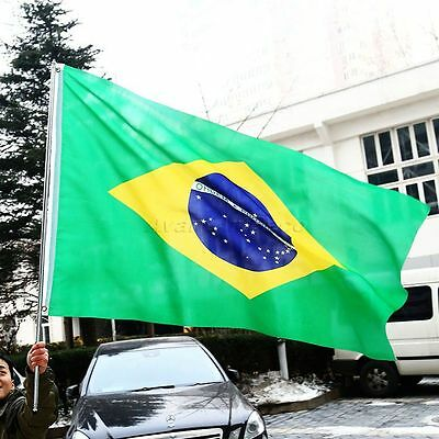 1pc 3x5FT Brazil National Flag Brazilian Hanging Banner Sports Party Decoration