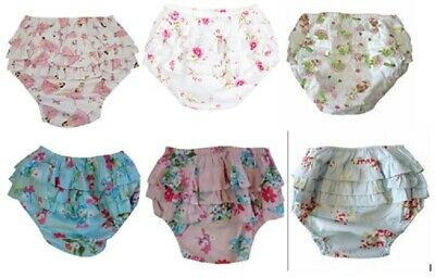 SEVEN LOVELY DESIGNS Powell Craft Cotton Frilly Knickers Pants Baby 0-3 years