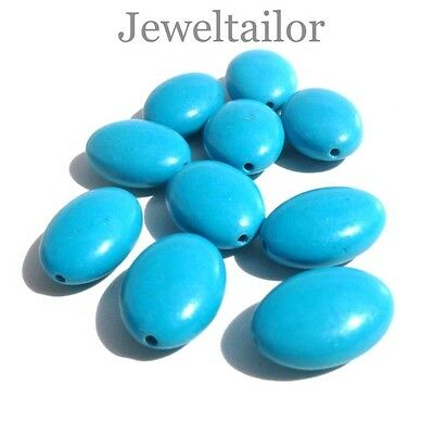 CLEARANCE!20-40 PREMIUM QUALITY LARGE OVAL TURQUOISE PENDANT BEADS 18mm CRAFTSUK