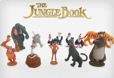 The Jungle Book Cake Toppers Mowgli Baloo Shere Khan Bagheera Set of 12 Figures