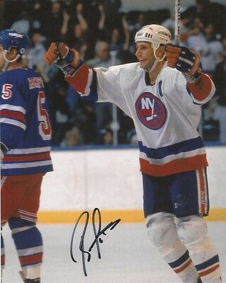 BRENT SUTTER ICE HOCKEY NEW YORK ISLANDERS SIGNED 10x8 INCH LAB PRINTED PHOTO