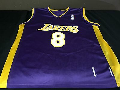 768bc1406981 Kobe Bryant  8 Vintage Champion LA LAKERS NBA Basketball Jersey Size XL  Purple