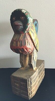 Guatemalan hand carved painted animal