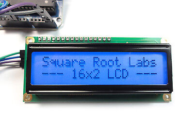 Blue 16x2 I2C LCD Display + Wires for Arduino Raspberry Pi 1602 Dark Characters