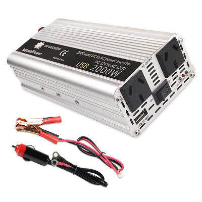 2000w converter Modified sine wave power inverter DC 12v to AC 220v invertor USB