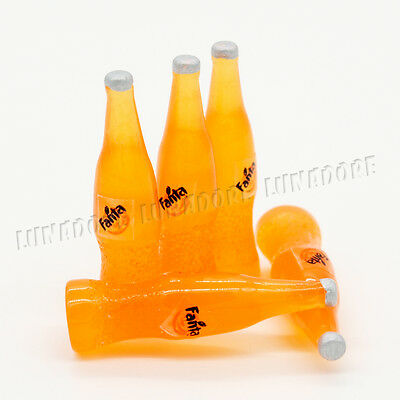 1:12 5 Miniature Fanta bottles Dollhouse Food Drink Soda Cola Toy Accessory Gift