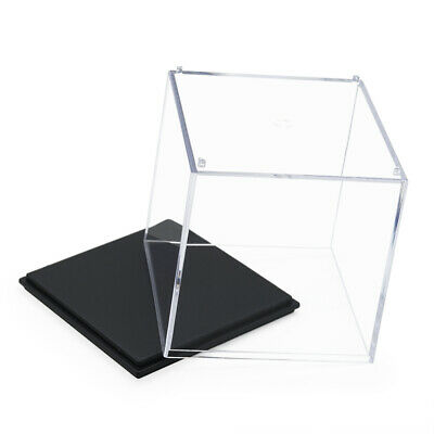 """Clear UV Acrylic/Plastic Display Box Case Dustproof Tray Protection Cube 2.75""""H"""