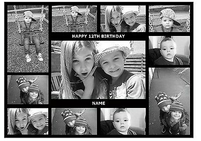 Own Personalised Collage Photo A4 Edible Cake Topper Custom Made Icing Sheet