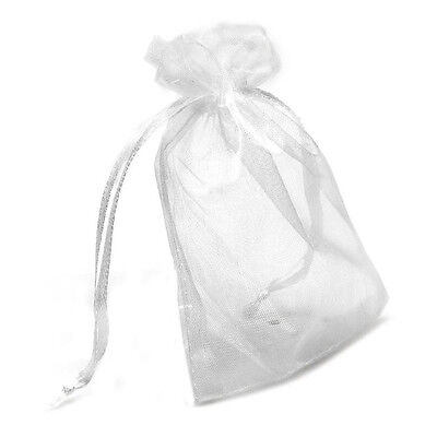 24pcs Wedding Party Favor Baby Shower Candies Gift Bag White Gauze SP