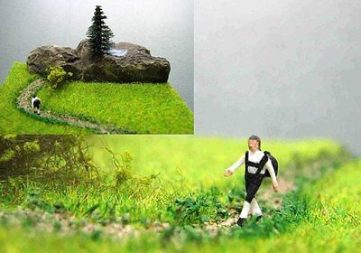 (DW4) diorama wanderer to the mountain lake Scale Gauge Z (1:220)