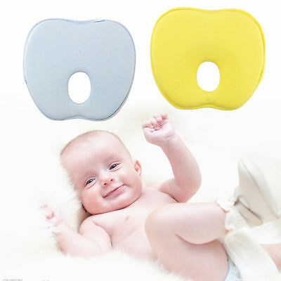 Infant Baby Sleeping  Pillow Positioner Cushion Flat Head Memory Foam with cover
