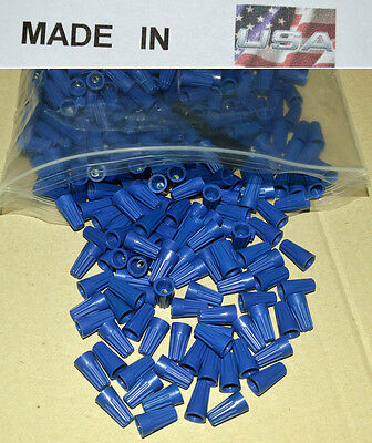 Small Blue Wire Connector Twist Nut Electrical 100 Pcs 22 14 Gauge