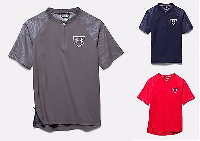 Under Armour Boy's UA 9 Strong Short Sleeve Cage Youth 1/4 Zip Jacket - NWT $50