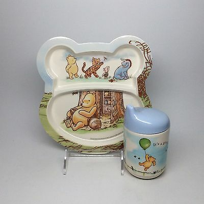 Classic Pooh-Melamine Plate & Cup Set.
