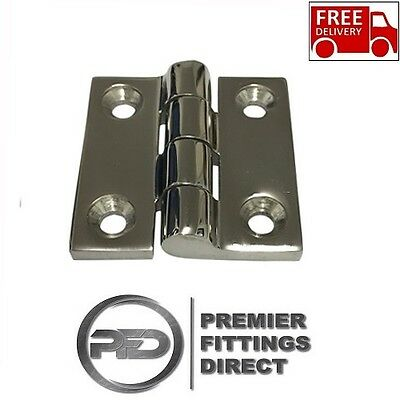 "Butt Hinge 50mm x 50mm 2"" Heavy Duty A4 316 Stainless Steel (FREE DELIVERY)"